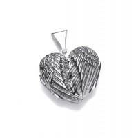 Silver Opening Angel Wings Locket