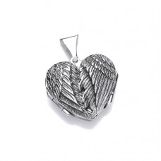 Silver Opening Angel Wings Locket