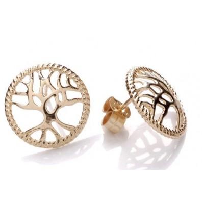 9ct Gold Tree Of Life Stud Earrings