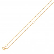 "9ct Gold 18"" Adjustable Diamond Cut Curb Chain"