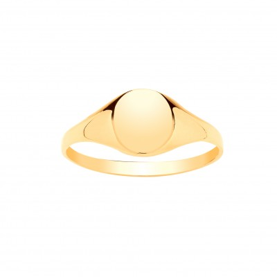 9ct Gold Boys Oval Signet Ring