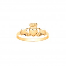 9ct Gold Childs Claddagh Ring
