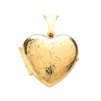 9ct Gold Engraved Heart Locket 2.88gms