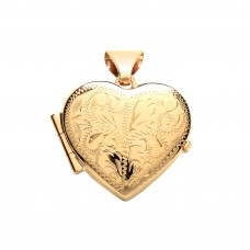 9ct Gold Engraved Heart Locket 1.82gms