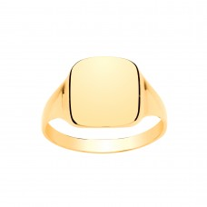9ct Gold Gents Cushion Signet Ring