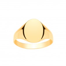 9ct Gold Gents Oval Signet Ring