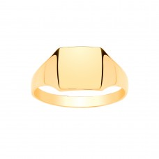 9ct Gold Gents Square Signet Ring