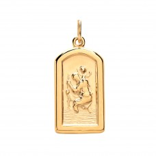 9ct Gold Heavyweight Arched St. Christopher Pendant