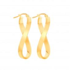 9ct Gold Infinity Creole Earrings