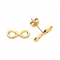 9ct Gold Infinity Stud Earrings
