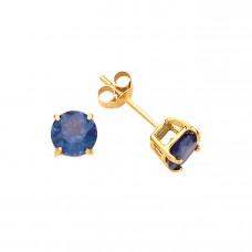 9ct Gold Kanchan Sapphire Stud Earrings