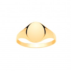 9ct Gold Ladies Oval Signet Ring