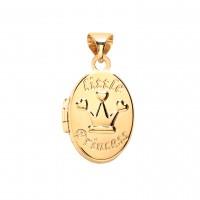 "9ct Gold ""Little Princess"" Oval Locket"