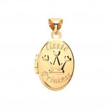 "9ct Gold ""Little Princess"" Oval Locket"