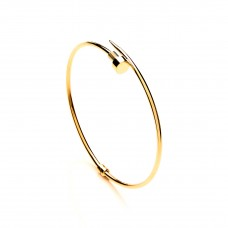 9ct Gold Nail Torque Bangle