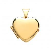 9ct Gold Plain Heart Locket