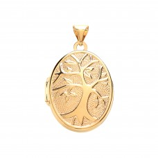 9ct Gold Tree of Life Oval Locket