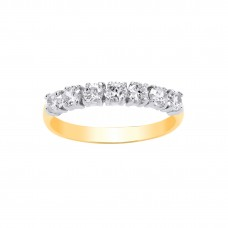 9ct Gold White Cubic Zirconia Eternity Ring