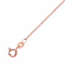 "9ct Rose Gold 18"" Diamond Cut Curb Chain"
