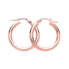 9ct Rose Gold 18mm Round Creole Earrings
