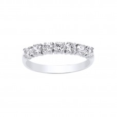 9ct White Gold White Cubic Zirconia Eternity Ring