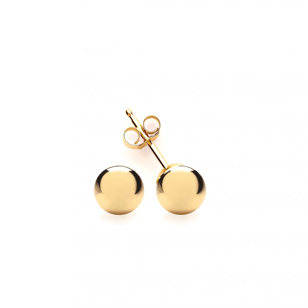 c81bce3bc 9ct Gold 5mm Ball Stud Earrings