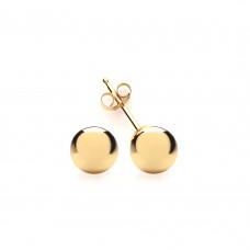 9ct Gold 6mm Ball Stud Earrings