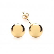 9ct Gold 8mm Ball Stud Earrings