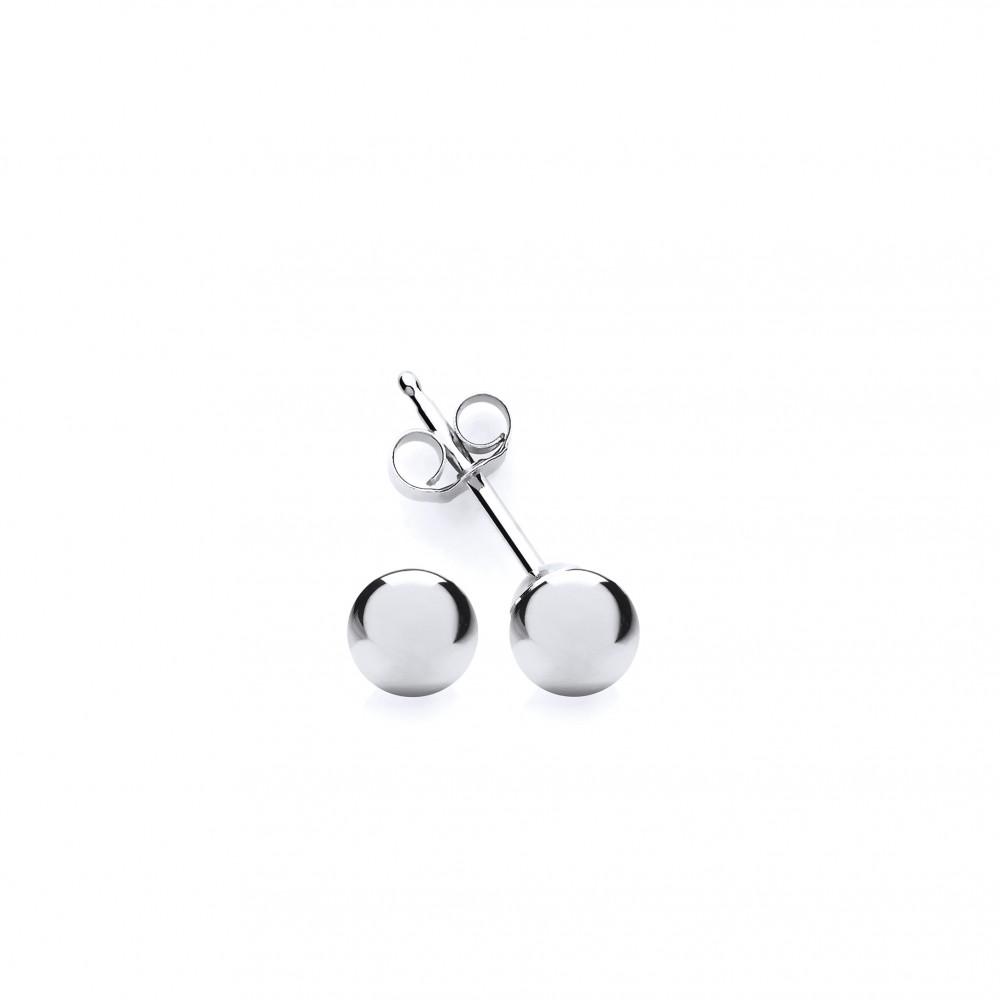 0ef074de4 9ct White Gold 4mm Ball Stud Earrings