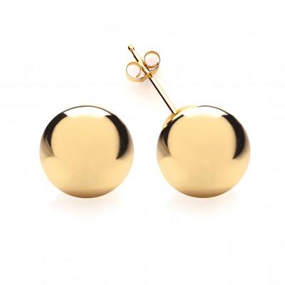 9ct Gold 10mm Ball Stud Earrings