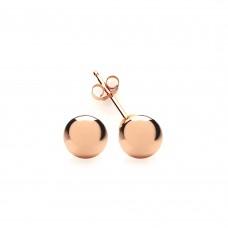 9ct Rose Gold 6mm Ball Stud Earrings