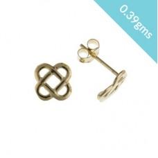 9ct Gold Celtic Design Stud Earrings 0.39gms