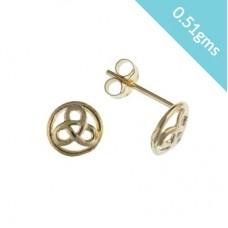 9ct Gold Celtic Design Stud Earrings 0.51gms