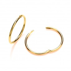 9ct Gold 14mm Hinged Sleeper Earrings