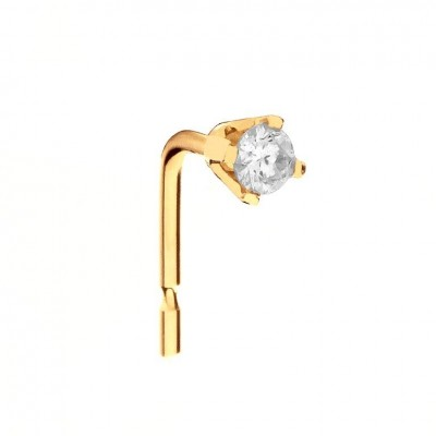9ct Gold 0.02ct Real Diamond Nose Stud