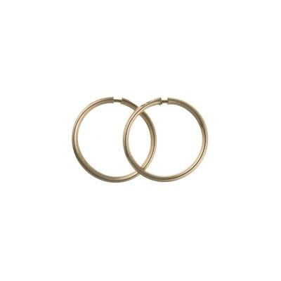 9ct Gold 10mm Hoop Earrings