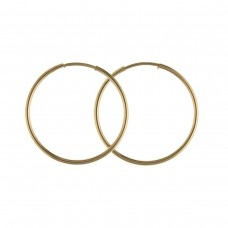 9ct Gold 14mm Hoop Earrings 0.29gms