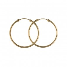9ct Gold 14mm Hoop Earrings 0.51gms