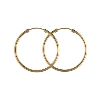 9ct Gold 25mm Hoop Earrings