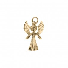 9ct Gold Angel Charm Pendant