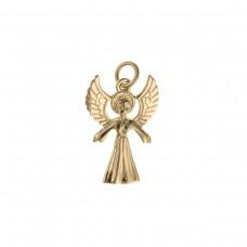 9ct Gold Angel Charm Pendant