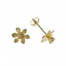 9ct Gold Daffodil Stud Earrings