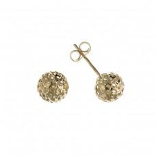 9ct Gold Filigree Ball Stud Earrings