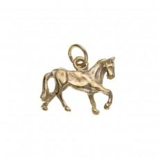9ct Gold Horse Charm Pendant