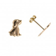 9ct Gold Puppy Dog Stud Earrings