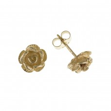 9ct Gold Rose Stud Earrings