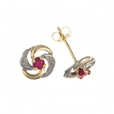 9ct Gold Ruby Stud Earrings