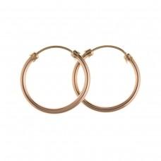 9ct Rose Gold 18mm Hoop Earrings 0.75gms