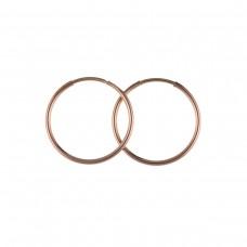 9ct Rose Gold 18mm Hoop Earrings 0.43gms