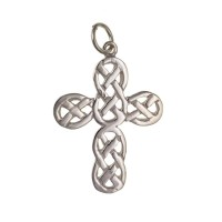 Silver Celtic Design Cross Pendant